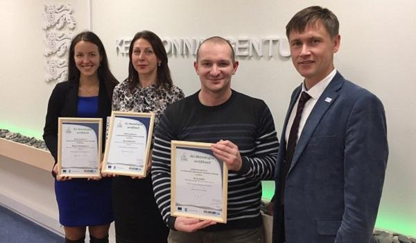 Ökomärgise sertifikaadi üleandmine