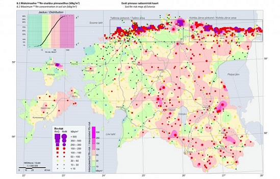 Pinnase radooniriski ja looduskiirguse atlas