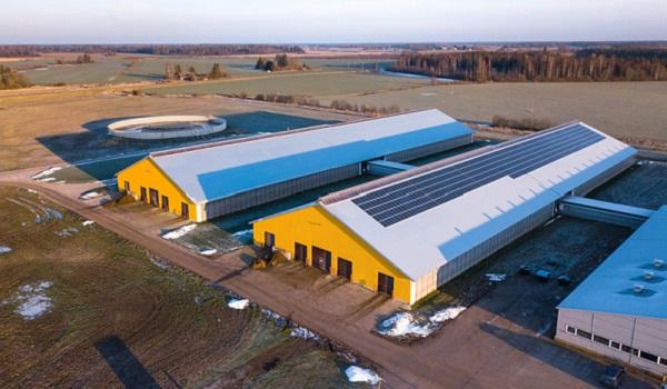 Estonia piimafarmi päikeseelektrijaam