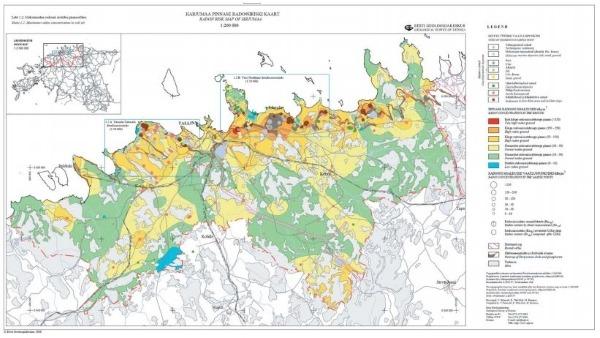 Harjumaa radooniriski kaart