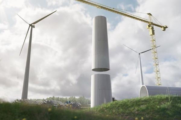 Puitmoodulitest kokkupandavad tuuleturbiinid