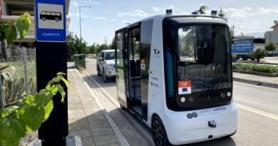 Eestlast loodud isejuhtiv buss Kreekas