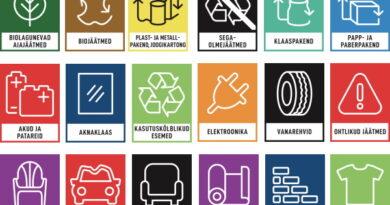 Ühtne jäätmete liigiti kogumise märgistus levib üle Eesti