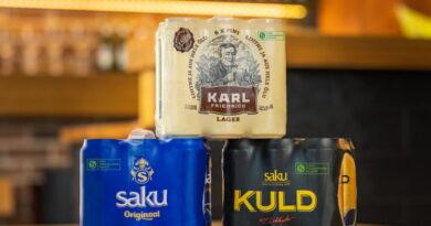 Saku Õlletehas pakendab multipakid 100% taaskasutatud kilesse